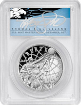 2020-P $1 Proof Silver Basketball Hall Of Fame PR70 PCGS FDOI T Cleveland Blue Eagle
