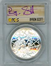 2020-P $1 Proof Silver Basketball HOF FDOI PR70 PCGS Byron Scott 1 of 24