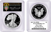 2017-W(2020) Proof Silver Eagle PR70 PCGS WP Mint Hoard T Cleveland Torch