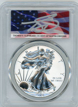 2019-S Silver Eagle Enhanced Reverse Proof PR70 PCGS T. Cleveland flag
