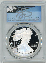 2020-W $1 Proof Silver Eagle PR70 PCGS T Cleveland Blue Eagle