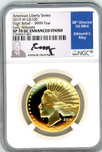 2019 W $100 Liberty Gold SP70 UC NGC Enhanced Finish HR Early Releases Ed Moy