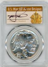 2001-D $1 Silver Buffalo MS70 PCGS T. Cleveland Art Deco