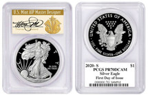 2020-S Proof ASE PR70 PCGS FDOI T. Cleveland Art Deco *POP 50*