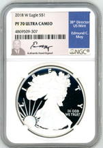 2018 W ASE PF70 NGC Ultra Cameo Ed Moy