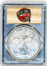 2020-(P) ASE MS70 PCGS Emergency Issue - Struck at Philadelphia FDOI Hall of Fame label Silver Core