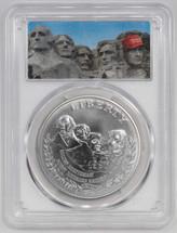 1991-P $1 Silver Mount Rushmore PCGS MS70 Mount Trumpmore Label