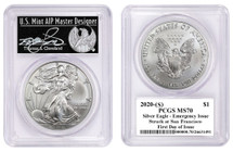 2020-(S) $1 ASE PCGS MS70 Emergency Issue Struck at San Francisco FDOI T Cleveland  Freedom