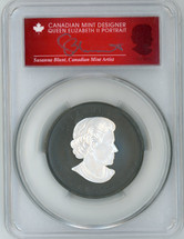 2020 $50 Canada Incuse-Rhodium 3oz Silver Maple Leaf Matte AG PR70 PCGS S. Blunt Queen label