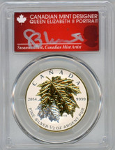2014 Canada $4 ML/Ag Rev Proof PR70 PCGS S. Blunt Queen label