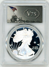 2020-W $1 Proof Silver Eagle V75 Privy PCGS PR70 FDOI