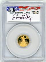 2015-W Proof $5 Gold Eagle PR70 PCGS FDOI - Philadelphia Moy r/w/b