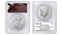 2021-(P) ASE MS70 Emergency Issue PCGS Type 1 FDOI T. Cleveland angry eagle