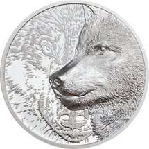 2021 500 Togrog Mongolia Proof Mystic Wolf Silver 1oz. Ultra High Relief