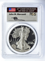 1998-P Proof ASE PR70 PCGS Flag Mercanti signed