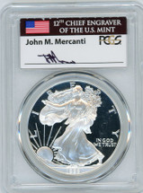 1999-P Proof ASE PR70 PCGS Flag Mercanti signed