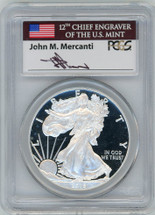 2015-W Proof ASE PR70 PCGS First Day of Issue - Denver Mercanti signed label