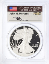 2014-W Proof ASE PR70 PCGS Flag Mercanti label