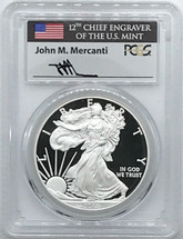 2011-W Proof ASE PR70 PCGS Flag Mercanti signed label