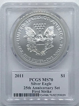 2011 ASE MS70 PCGS 25th Anniversary First Strike Ed Moy signed label