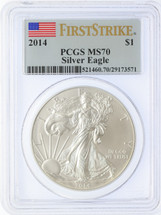 2014 ASE MS70 PCGS First Strike Flag label