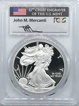 2012-W Proof ASE PR70 PCGS Mercanti signed label