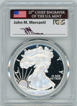 2017-W Proof ASE PR70 PCGS Mercanti signed label