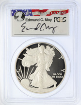 2008-W Proof ASE PR70DCAM PCGS Ed Moy signed label