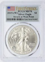 2015-(W) ASE MS70 PCGS Struck at West Point Flag First Strike