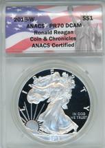 2016-W ASE PR70DCAM ANACS Ronald Reagan Coin & Chronicles label