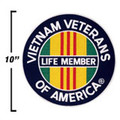 Vietnam Life Member Patch 10""