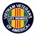 Vietnam LifeMember Patch 2 1/2""