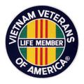 "Vietnam LifeMember Patch 2 1/2"""