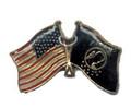 US Flag & POW Lapel Pin