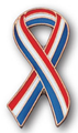 Red, White and Blue Ribbon Lapel Pin