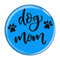 "Dog Mom Aqua 2.25"" Compact Pocket Purse Hand Mirror Back"