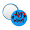 "Dog Mom Heart Aqua 2.25"" Compact Pocket Purse Hand Mirror Back"