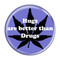 """Hugs are better than Drugs Periwinkle 1.5"""" Pinback Button"""