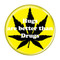 """Hugs are better than Drugs Yellow 1.5"""" Pinback Button"""