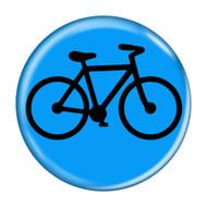 Bike Silhouette Cycling Biking Pinback Buttons