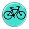 """Bike Silhouette Cycling Biking Fuchsia 1.5"""" Pinback Button"""