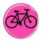 "Bike Silhouette Cycling Biking Mint 1.5"" Pinback Button"