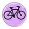 """Bike Silhouette Cycling Biking Sky Blue 1.5"""" Pinback Button"""