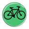 """Bike Silhouette Cycling Biking Turquoise 1.5"""" Pinback Button"""