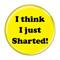 "I Think I Just Sharted! Fart Aqua 1.5"" Pinback Button"