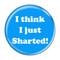 "I Think I Just Sharted! Fart Fuschia 1.5"" Pinback Button"