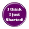 "I Think I Just Sharted! Fart Magenta 1.5"" Pinback Button"
