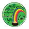 """Happy St. Patrick's Day! Pot of Gold 1.5"""" Pinback Button"""