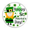 """Happy St. Patrick's Day! 1.5"""" Pinback Button"""