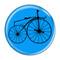 """Bike Velocipede Boneshaker Cycling Biking Aqua 1.5"""" Pinback Button"""